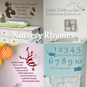Nursery Rhyme Quote Wall Sticker Home