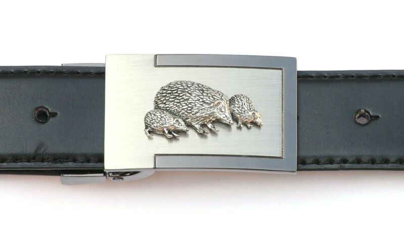 Hedgehog Family Belt Buckle And Leather Belt In Gift Tin Ideal Wildlife 175