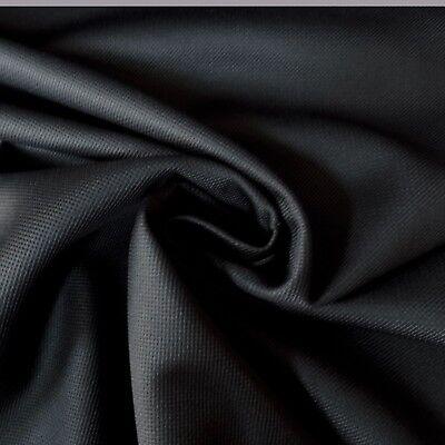 Black Polyester FREE UK P/&P 4-way Stretch Jersey Rib Dressmaking Fabric