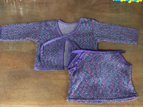 purple sparkle American Girl Millennium 2000 outfit 2pc NWOB