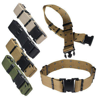 Adjustable Survival Tactical Belt Emergency Rescue Rigger Militaria New GFY