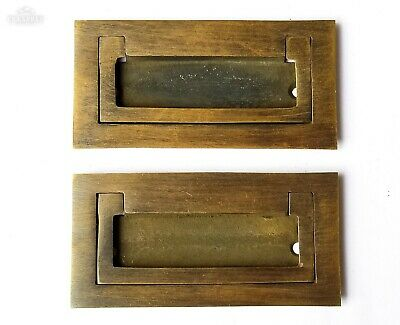 """4 Arts and Crafts Mission brass handle pull hardware antique style 3-1//8/"""" #H32"""
