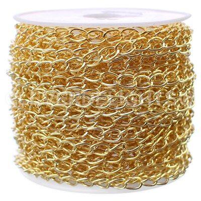 Curb Chain 30 Feet Bulk Spool 3.5mm x 5.5mm Twisted Link Champagne Gold
