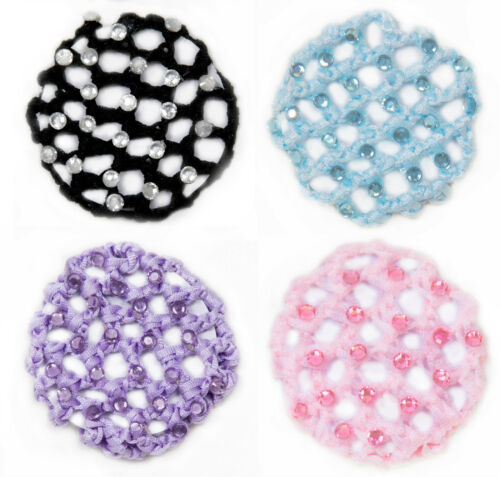 Medium Dance /& Fashion  Bun Holder Pink Lavender Lt.Blue Black  large stones NEW
