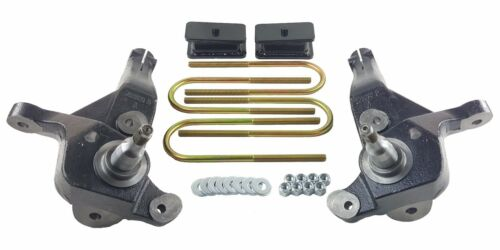 """Lift Kit 4/"""" Front Spindles 2/"""" Rear Fab Steel Blocks Fits 2001-09 Ford Ranger 4x2"""