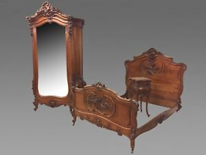 chambre a coucher style louis xv rocaille noyer