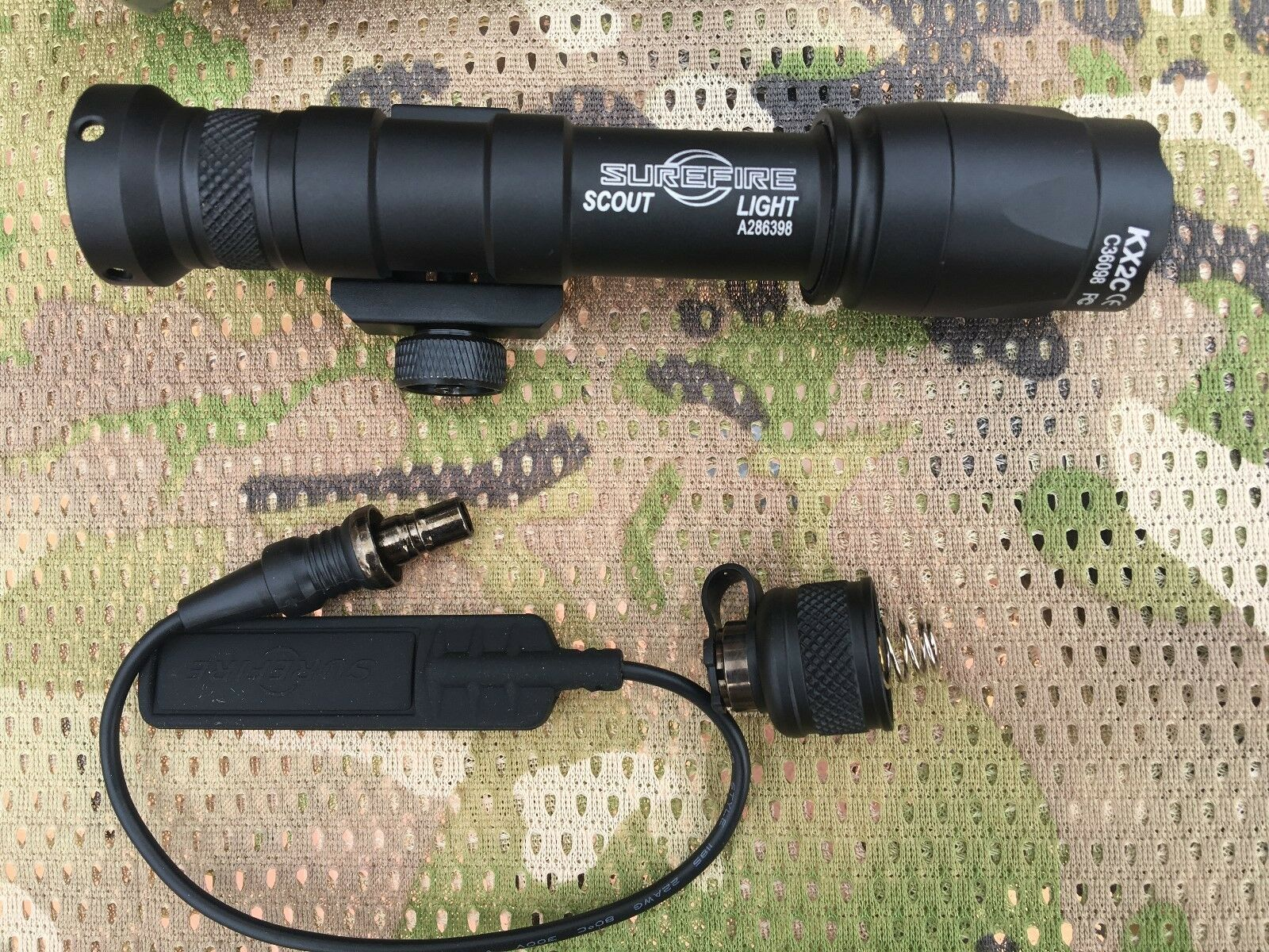 Tactical Light with Pressure Pad SF M600C Scout Light