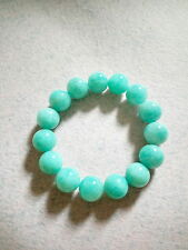 NATURAL CRYSTAL 14.5 MM TO 15 MM AMAZONITE CRYSTAL BRACELET (BRAND NEW)