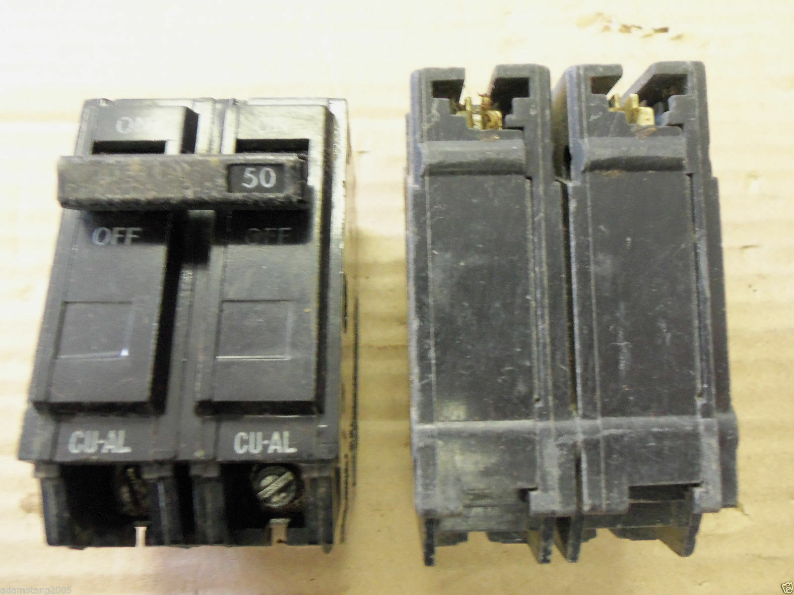 General Electric Ge Thql2150 Q Line Circuit Breaker 2 Double Pole Shop Qline Thql 20amp 1pole Ground Fault At 50 Amp Ebay