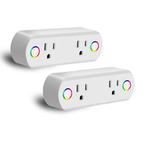 2-Pack-WiFi-Smart-Plug-Socket-w-Energy-Monitor-Remote-Control-Google-Home-Alexa