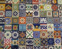 500 Mexican Talavera Ceramic Tiles 4x4  Special Sale