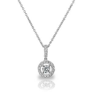 18Carat-White-Gold-Diamond-Solitaire-Halo-Pendant-0-25carats-GSI-Chain-Necklace