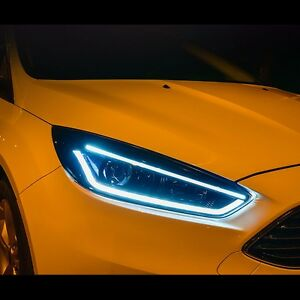 Image Is Loading Led Projector Xenon Hid Headlights For Ford Focus