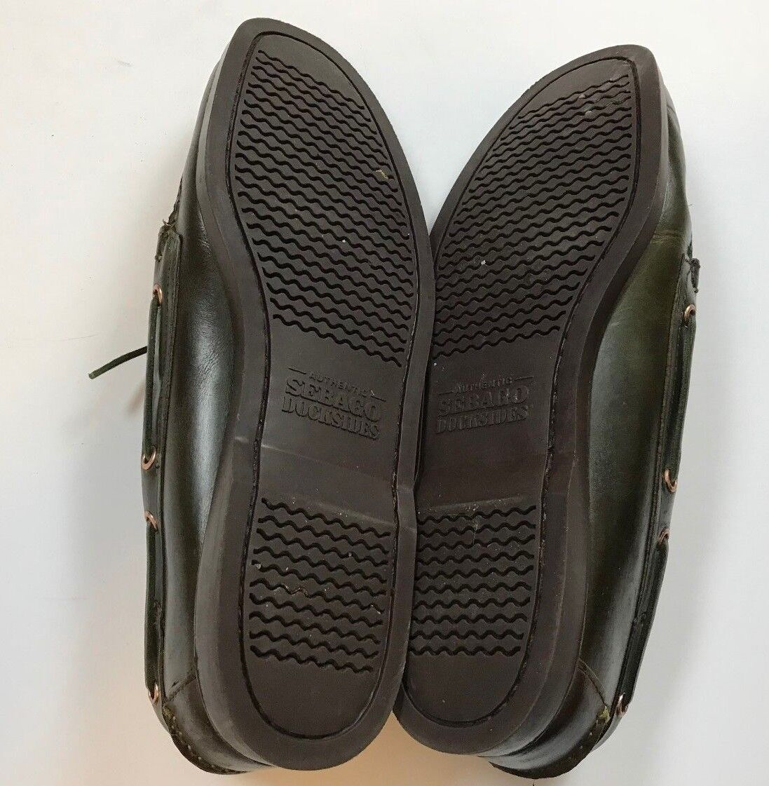 Sebago Moc Docksides  Uomo Leder Schuhes Dark Braun Casual Moc Sebago Toe Loafers Größe 12M b222c1