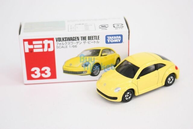 Takara Tomy Tomica #33 Volkswagen the Beetle Scale 1/66 Yellow Diecast Toy Car