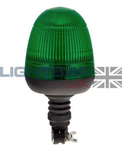 Flexibel Din Pole Halterung Bagger Anlage Drehbar Blink Grün Led Strobe Licht