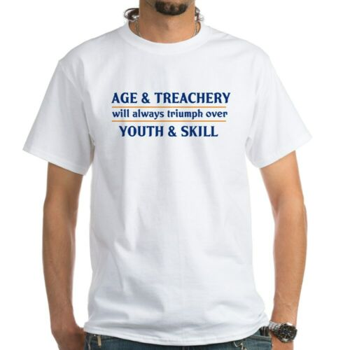 582848916 CafePress Age And Treachery Will Always White T Shirt Mens T-Shirt