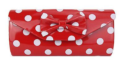 Tasche rot weiß Punkte Rockabilly by Ella Jonte kleine rote Handtasche Clutch