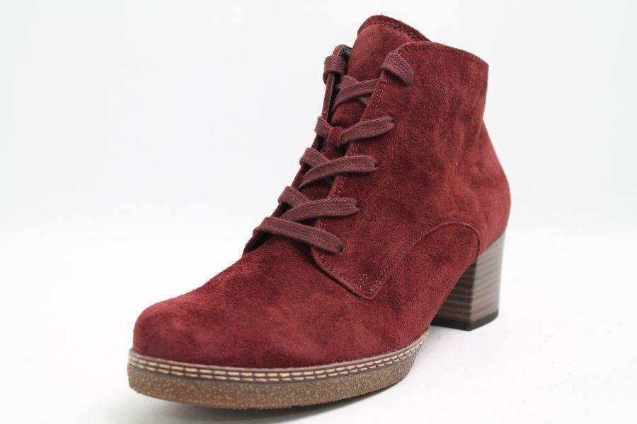Gabor botines rojo nobuck cuero cambio plantilla ancho de zapatos G