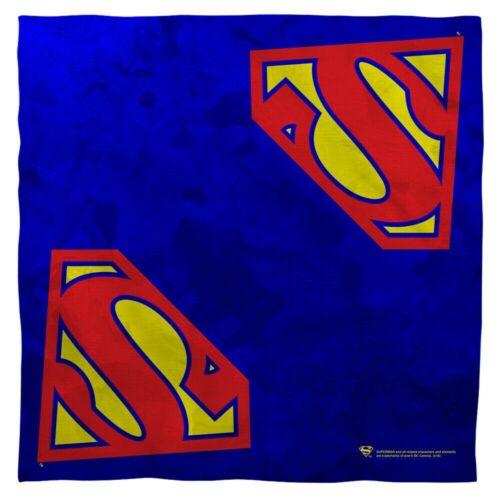 """Superman /""""Logo/""""  22/"""" x 22/"""" Sublimated Bandana new"""