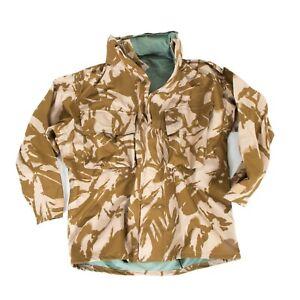 British-Army-Goretex-Jacket-Waterproof-amp-Breathable-Desert-Camo-Overcoat-Smock