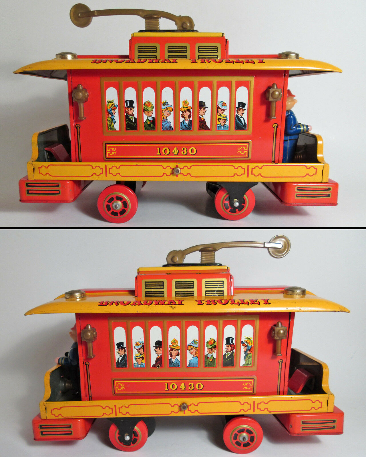 VTG B O BROADWAY TROLLEY BUMP 'N GO RINGING BELL MODERN TOYS JAPAN 50s WORKS EXC