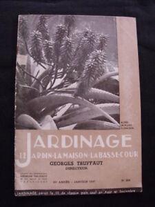 Détails sur Catalogue Jardinage G. Truffaut Janvier 1937 Jardins de la Côte  d\'Azur Cactées