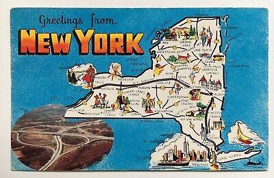 Greetings from Wayland New York Early Vintage Original Postcard