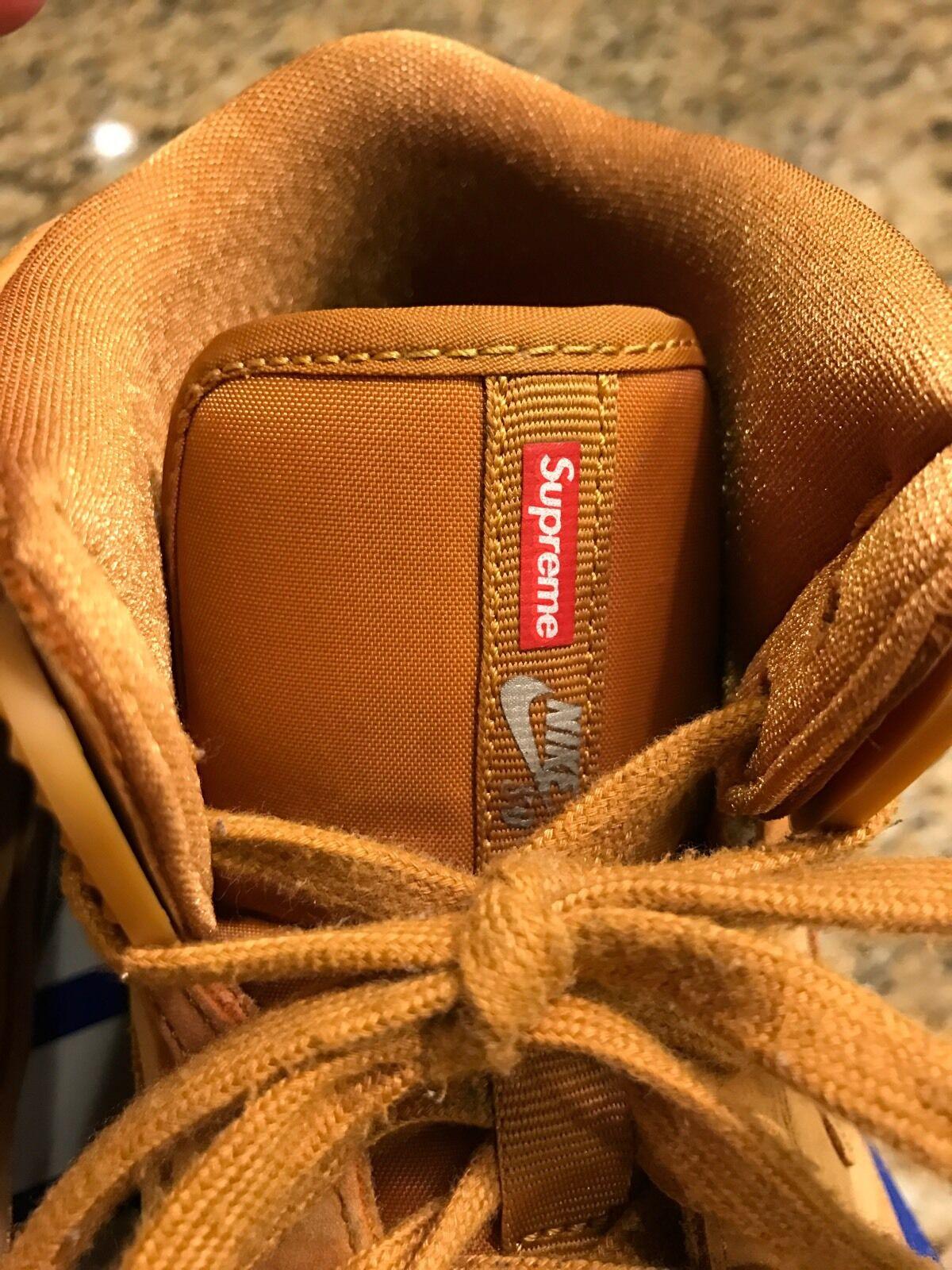 2011 Nike Dunk ZOOM AIR 94 HI SUPREME SB BLACK GUM BROWN Wheat Sz 11 Jordan Max