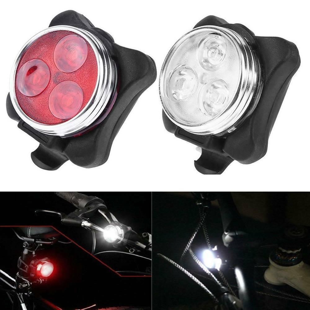 WATERPROOF BRIGHT LED BIKE BICYCLE CYCLE FRONT AND REAR BACK TAIL LIGHT LIGHTS U