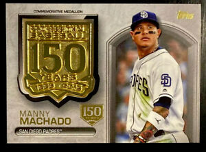 🏅 2019 Manny Machado /150 Topps Update Anniversary Medallion 150th Gold Stamp
