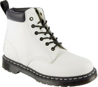 Dr. Martens Saxon 939 Sz Us 11 M / Uk 10 White Leather 6 Eye Boots Mens Shoes