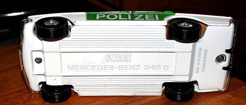 CORGI MERCEDES BENZ 240 D POLIZEI CAR 1979 MADE IN IN IN GT. BRITAIN ba2625