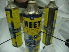 Heet Gas Line Anti-Freeze Vintage 12 Fl. Oz. Cone Top Can ** Still Full **