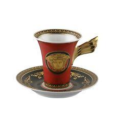 Rosenthal Versace Medusa Rot Kaffeetasse 2tlg. NEU