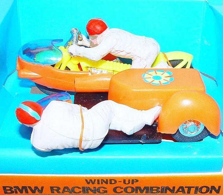 Hong Kong 1 20 BMW 1966 RACING MOTORCYCLE & SIDECAR 14cm  orange MIB`75 TOP RARE