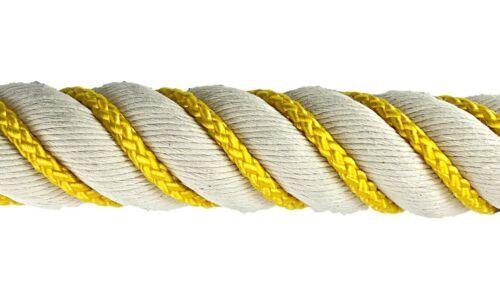 choisissez votre danse couleur 36 mm coton naturel vermifugés Bannister Corde X 12 Pieds