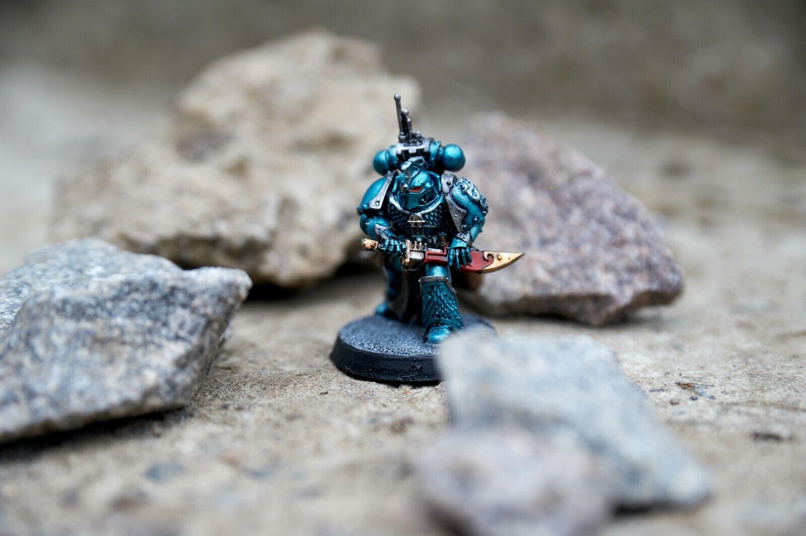 Alpha Legion Praetor paited Warhammer 40k Horus Heresy Space Marine Legions