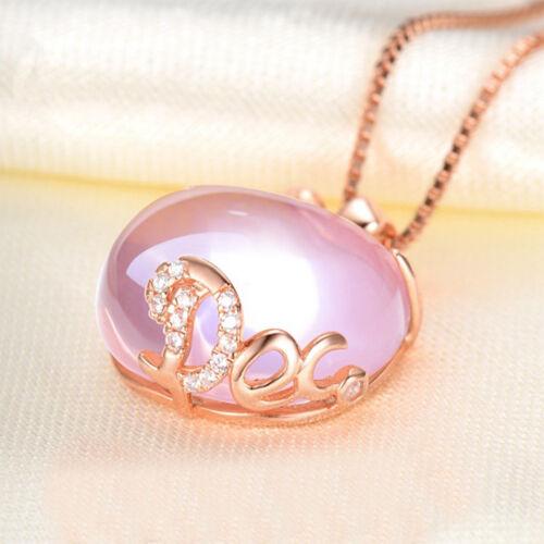 Opal collier chaîne Plaqué or Rose Apple en Forme de Rose Pendentif Magnifique Cadeau