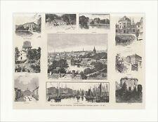 Ansichten aus Dorpat und Umgebung Tartu Estland Universität Holzstich E 13220