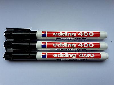 Edding 400 schwarz Permanentmarker Marker Rundspitze 1 mm Stift Stifte Neu
