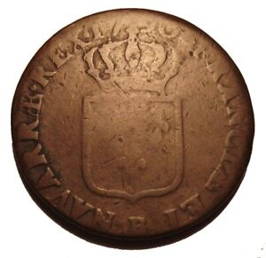 OLD Colonial Coin COPPER 1790  FRANCE 1 SOL