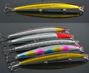 HiUmi Lot 10pcs 26g 18cm Plastic Minnow Fishing Lures Bass CrankBait Tackle