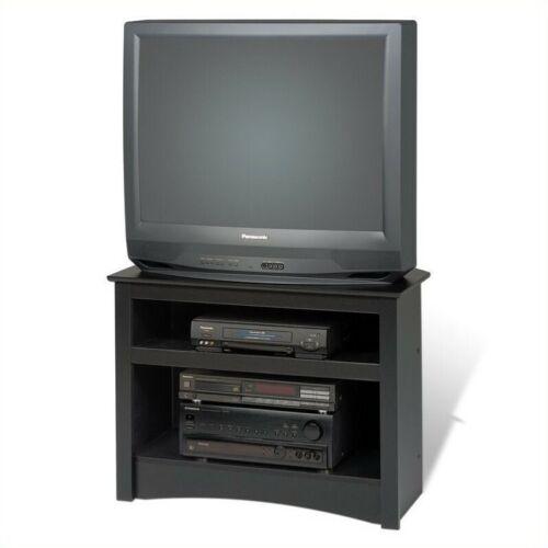 "Prepac Sonoma 32/"" Corner TV Stand in Black Laminate"