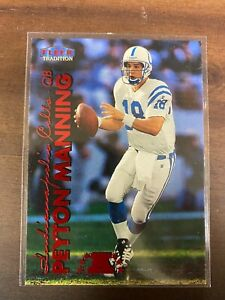 PEYTON MANNING 1999 Fleer Tradition RED FOIL SP BASE #2 MINT 2nd Year