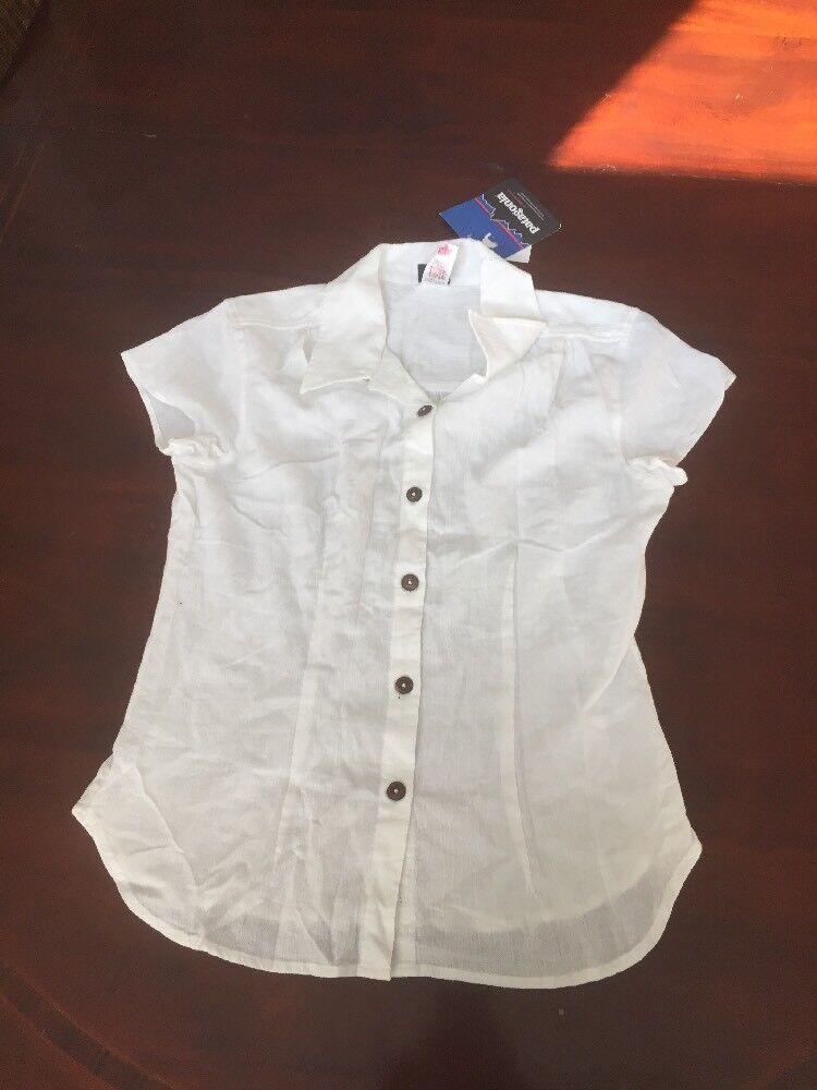 Patagonia Women's (8) White Button Up Sleeveless Blouse. TL8