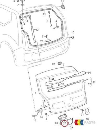 NEW Genuine Seat Mii 12-17 Coffre Arrière Coffre Couvercle Mécanisme de verrouillage 1S0827505E 9B9