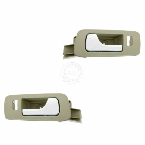 Door Handles Inside Cashmere Chrome Front Left /& Right Pair Set for STS STS-V