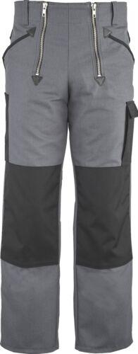 JOB Sommer Zunfthose COOL CANVAS grau o.Schlag//gerade Form Knietaschen 514144