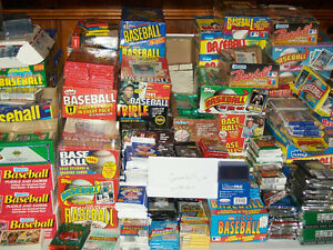 Details About Unopened Baseball Card Packs 1000 Cards